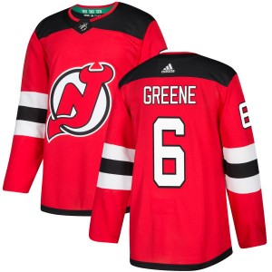 Andy Greene New Jersey Devils Men's Adidas Authentic Green Red Jersey