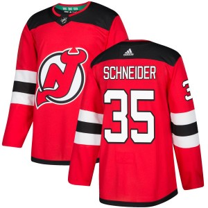 Cory Schneider New Jersey Devils Men's Adidas Authentic Red Jersey