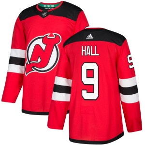 Taylor Hall New Jersey Devils Men's Adidas Authentic Red Jersey