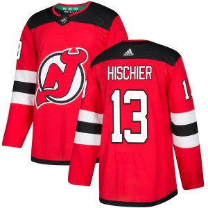 Nico Hischier New Jersey Devils Youth Adidas Authentic Red Home Jersey