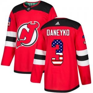 Ken Daneyko New Jersey Devils Men's Adidas Authentic Red USA Flag Fashion Jersey