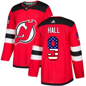 Taylor Hall New Jersey Devils Men's Adidas Authentic Red USA Flag Fashion Jersey