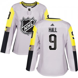 Taylor Hall New Jersey Devils Women's Adidas Authentic Gray 2018 All-Star Metro Division Jersey