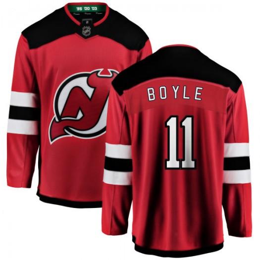 Brian Boyle New Jersey Devils Youth Fanatics Branded Red New Jersey Home Breakaway Jersey