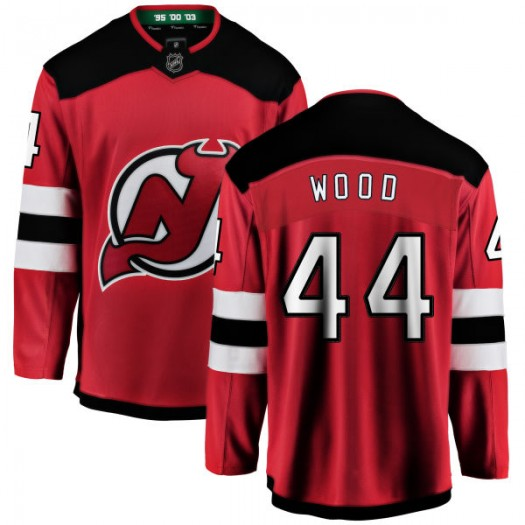Miles Wood New Jersey Devils Youth Fanatics Branded Red New Jersey Home Breakaway Jersey