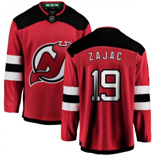 Travis Zajac New Jersey Devils Youth Fanatics Branded Red New Jersey Home Breakaway Jersey