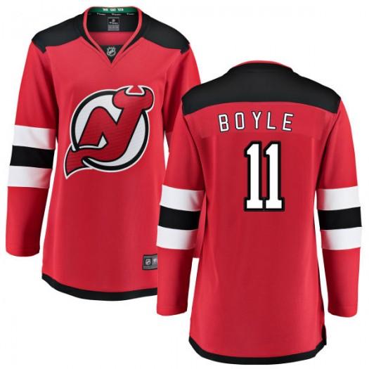 Brian Boyle New Jersey Devils Women's Fanatics Branded Red Home Breakaway Jersey