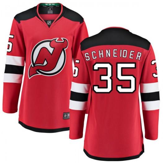 Cory Schneider New Jersey Devils Women's Fanatics Branded Red Home Breakaway Jersey