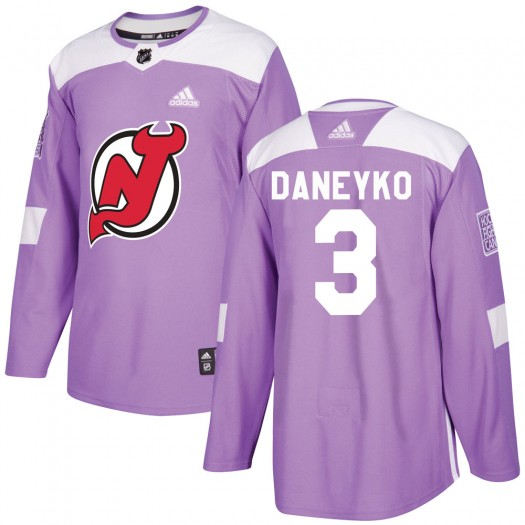 Ken Daneyko New Jersey Devils Men's Adidas Authentic Purple Fights Cancer Practice Jersey