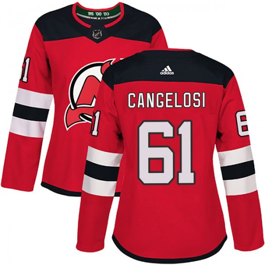 Austin Cangelosi New Jersey Devils Women's Adidas Authentic Red Home Jersey