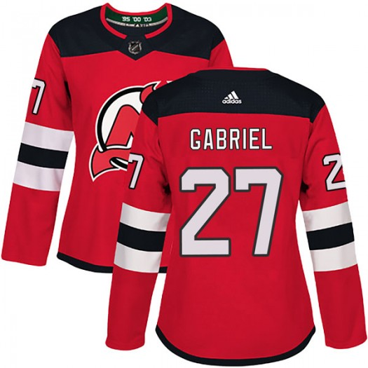 Kurtis Gabriel New Jersey Devils Women's Adidas Authentic Red Home Jersey