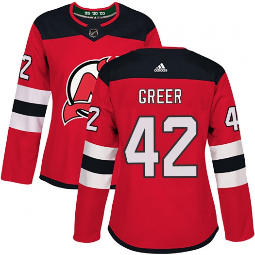 A.J. Greer New Jersey Devils Women's Adidas Authentic Red Home Jersey