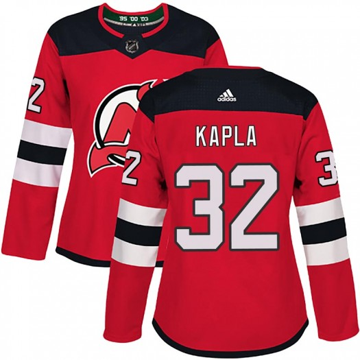 Michael Kapla New Jersey Devils Women's Adidas Authentic Red Home Jersey