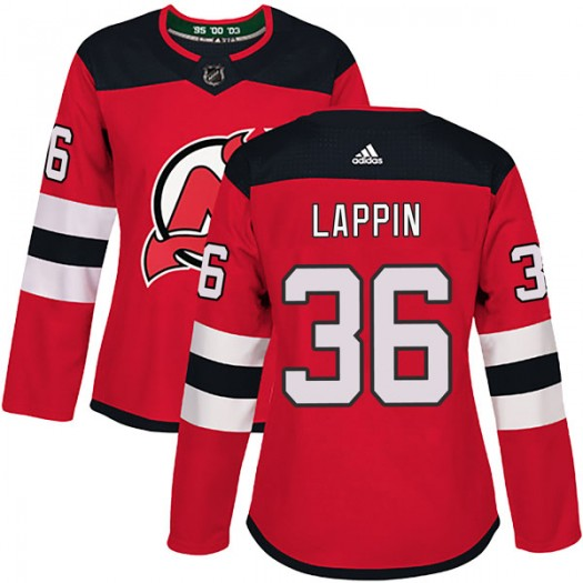 Nick Lappin New Jersey Devils Women's Adidas Authentic Red Home Jersey