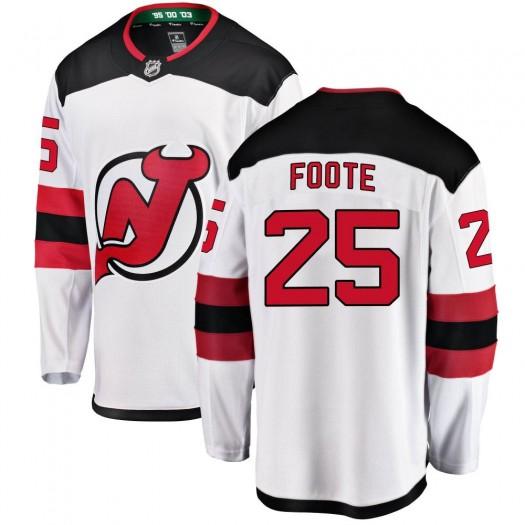 Nolan Foote New Jersey Devils Men's Fanatics Branded White Breakaway Away Jersey