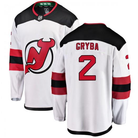 Eric Gryba New Jersey Devils Men's Fanatics Branded White Breakaway Away Jersey