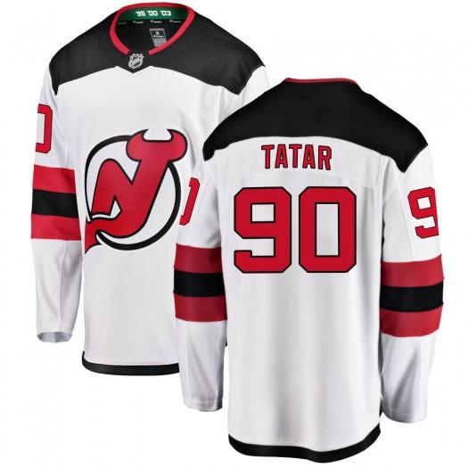 Tomas Tatar New Jersey Devils Men's Fanatics Branded White Breakaway Away Jersey