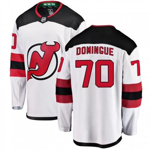 Louis Domingue New Jersey Devils Youth Fanatics Branded White Breakaway Away Jersey