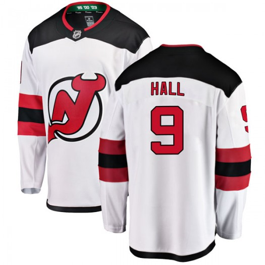 Taylor Hall New Jersey Devils Youth Fanatics Branded White Breakaway Away Jersey