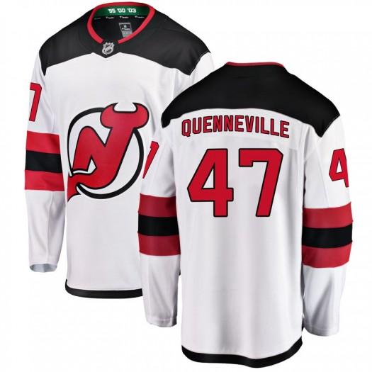 John Quenneville New Jersey Devils Youth Fanatics Branded White Breakaway Away Jersey