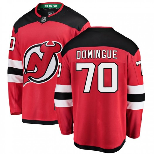 Louis Domingue New Jersey Devils Youth Fanatics Branded Red Breakaway Home Jersey