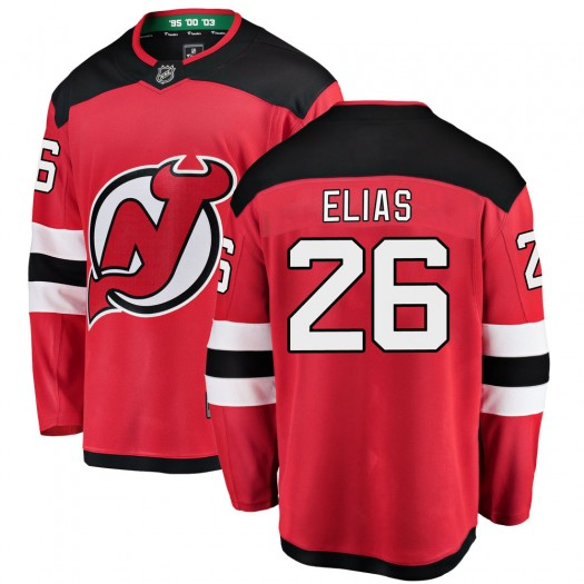 Patrik Elias New Jersey Devils Youth Fanatics Branded Red Breakaway Home Jersey
