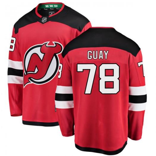 Nicolas Guay New Jersey Devils Youth Fanatics Branded Red Breakaway Home Jersey