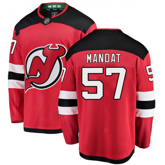 Jan Mandat New Jersey Devils Youth Fanatics Branded Red Breakaway Home Jersey