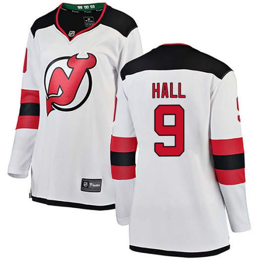 Taylor Hall New Jersey Devils Women's Fanatics Branded White Breakaway Away Jersey