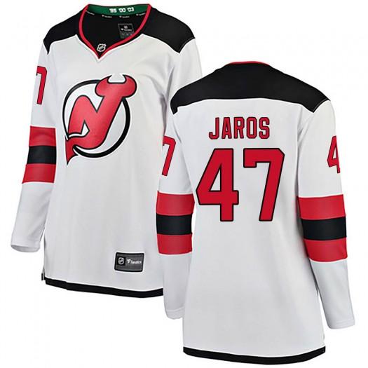 Christian Jaros New Jersey Devils Women's Fanatics Branded White Breakaway Away Jersey