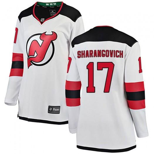 Yegor Sharangovich New Jersey Devils Women's Fanatics Branded White Breakaway Away Jersey