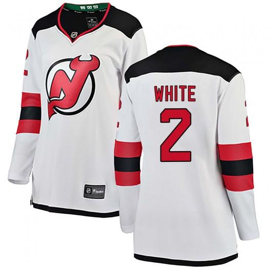 Colton White New Jersey Devils Women's Fanatics Branded White Breakaway Away Jersey
