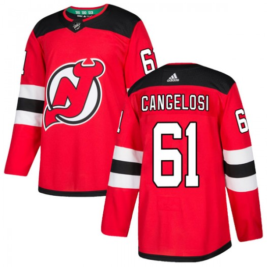 Austin Cangelosi New Jersey Devils Youth Adidas Authentic Red Home Jersey