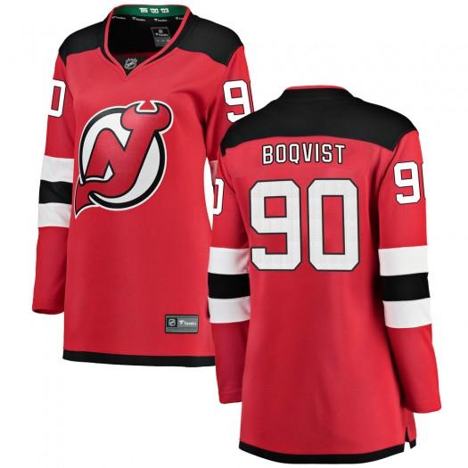 Jesper Boqvist New Jersey Devils Women's Fanatics Branded Red Breakaway Home Jersey