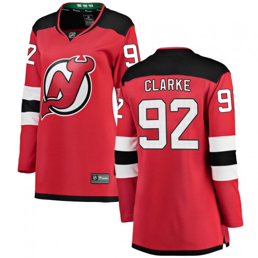 Graeme Clarke New Jersey Devils Women's Fanatics Branded Red Breakaway Home Jersey