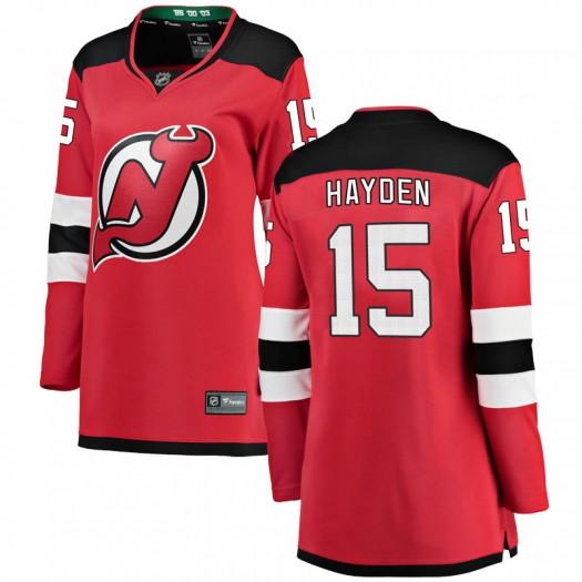 John Hayden New Jersey Devils Women's Fanatics Branded Red Breakaway Home Jersey