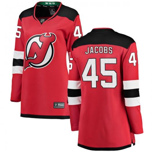 Josh Jacobs New Jersey Devils Women's Fanatics Branded Red Breakaway Home Jersey