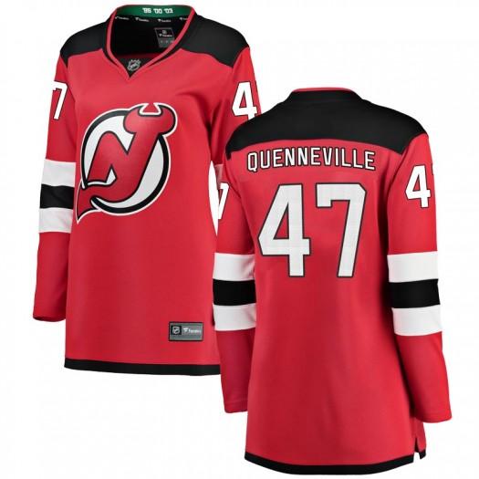 John Quenneville New Jersey Devils Women's Fanatics Branded Red Breakaway Home Jersey