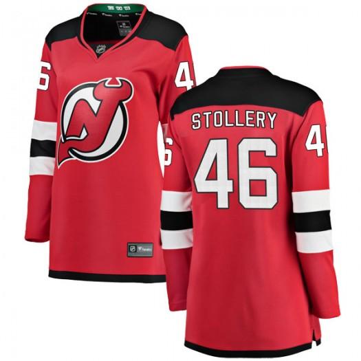 Karl Stollery New Jersey Devils Women's Fanatics Branded Red Breakaway Home Jersey