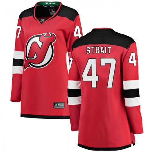 Brian Strait New Jersey Devils Women's Fanatics Branded Red Breakaway Home Jersey