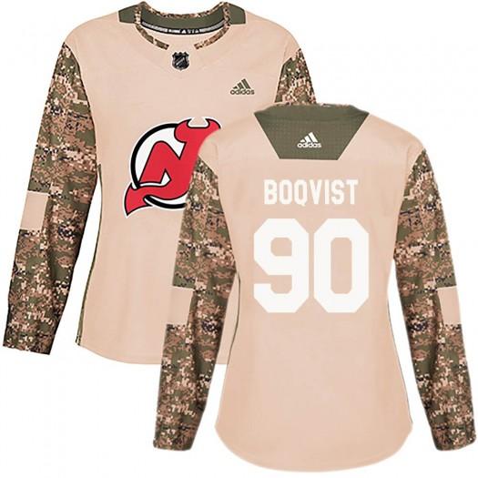 Jesper Boqvist New Jersey Devils Women's Adidas Authentic Camo Veterans Day Practice Jersey