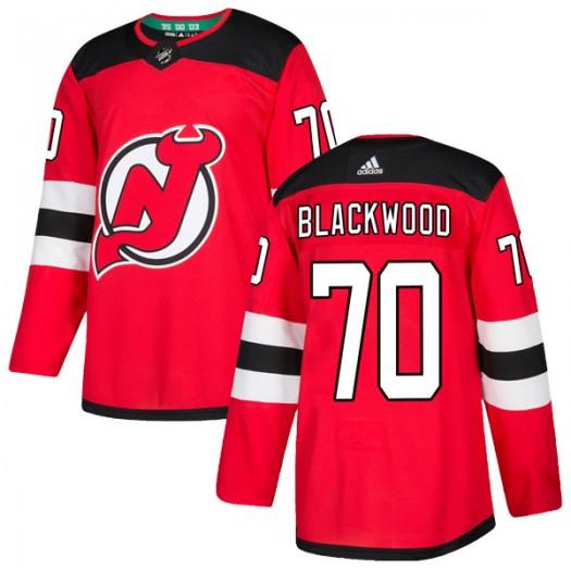 MacKenzie Blackwood New Jersey Devils Men's Adidas Authentic Black Red Home Jersey