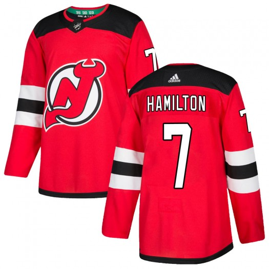 Dougie Hamilton New Jersey Devils Men's Adidas Authentic Red Home Jersey