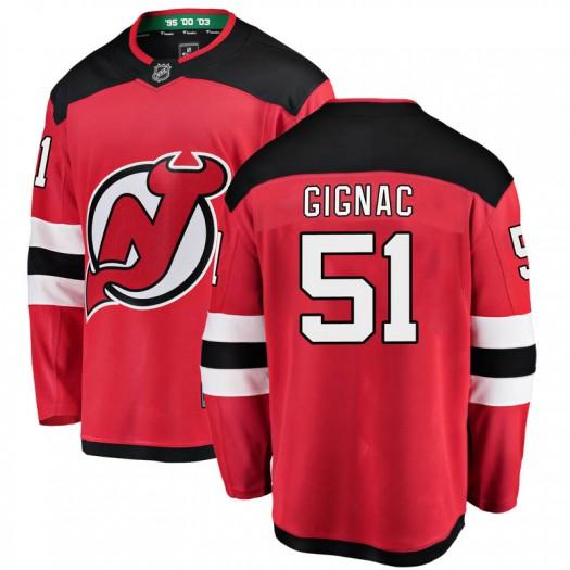 Brandon Gignac New Jersey Devils Men's Fanatics Branded Red Breakaway Home Jersey