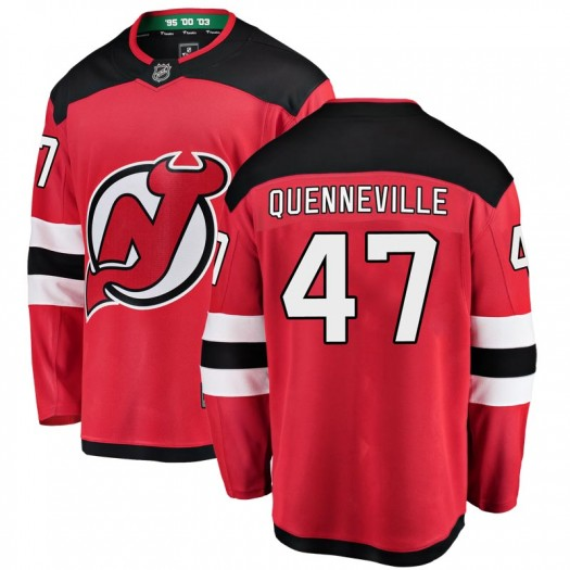 John Quenneville New Jersey Devils Men's Fanatics Branded Red Breakaway Home Jersey