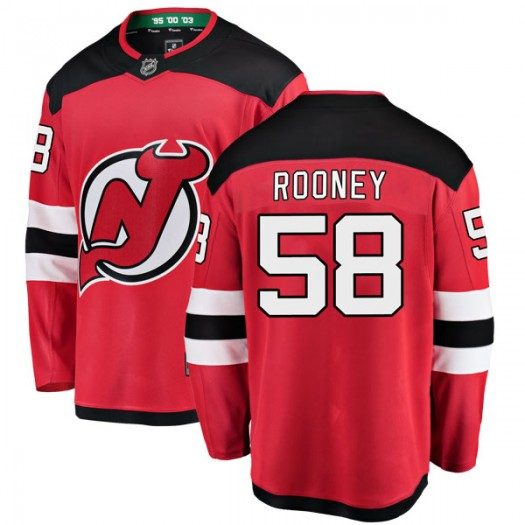 Kevin Rooney New Jersey Devils Men's Fanatics Branded Red Breakaway Home Jersey