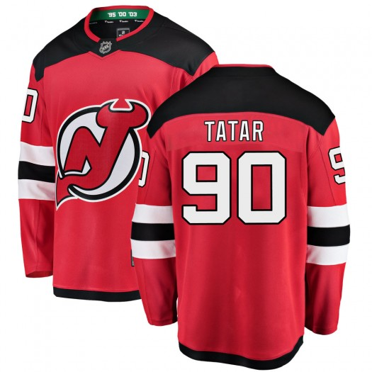 Tomas Tatar New Jersey Devils Men's Fanatics Branded Red Breakaway Home Jersey