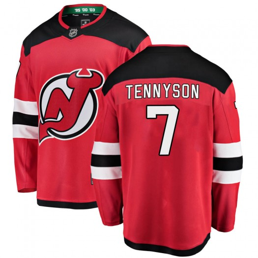 Matt Tennyson New Jersey Devils Men's Fanatics Branded Red ized Breakaway Home Jersey