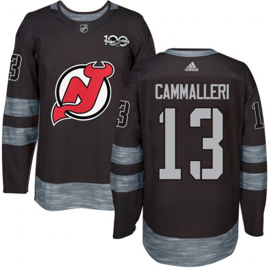 Mike Cammalleri New Jersey Devils Men's Adidas Authentic Black 1917-2017 100th Anniversary Jersey