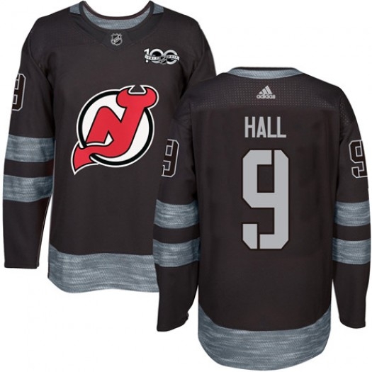 Taylor Hall New Jersey Devils Men's Adidas Authentic Black 1917-2017 100th Anniversary Jersey